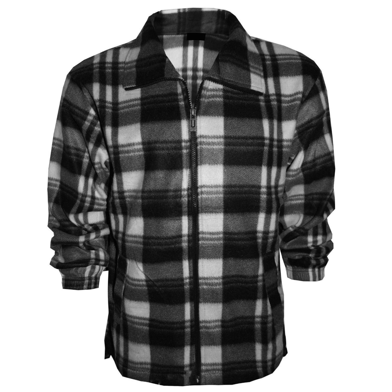 Mens lumber jack flannel shirts check print thermal tops for Mens warm flannel shirts
