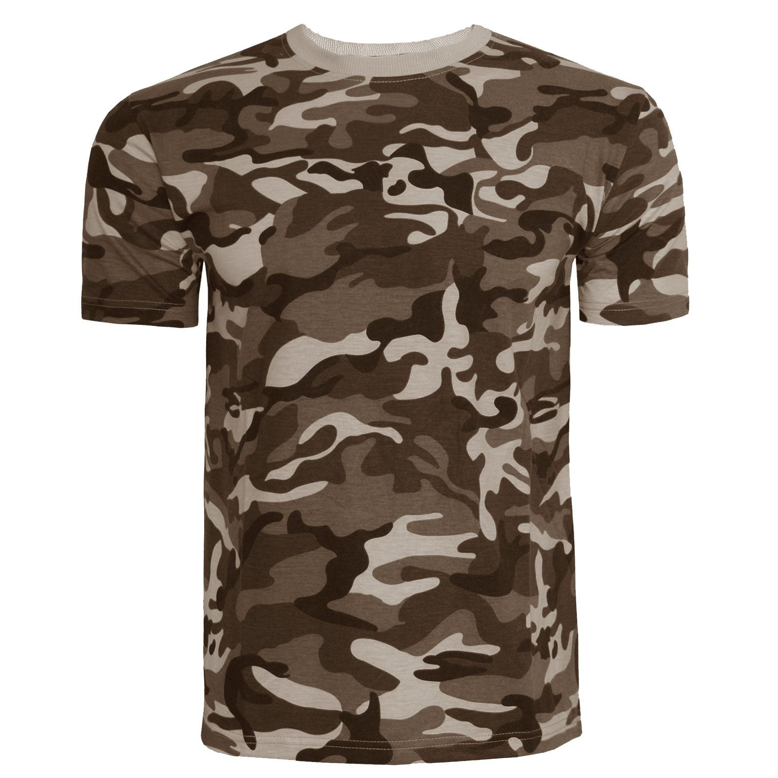Mens camouflage t shirt top vest camo military hunting for Camo fishing shirt