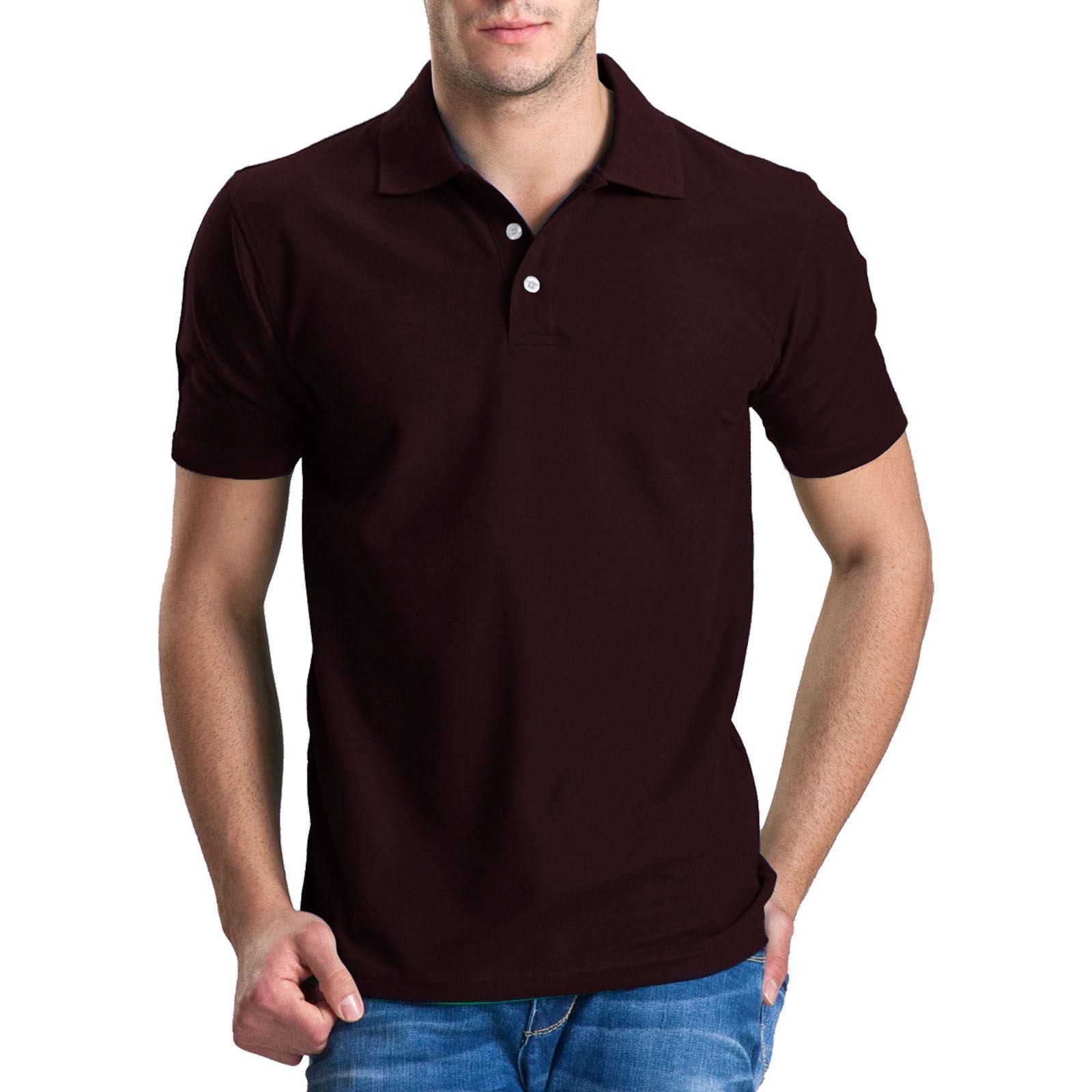 New Mens Polo T Shirts Short Sleeves Top Golf Tennis Tees