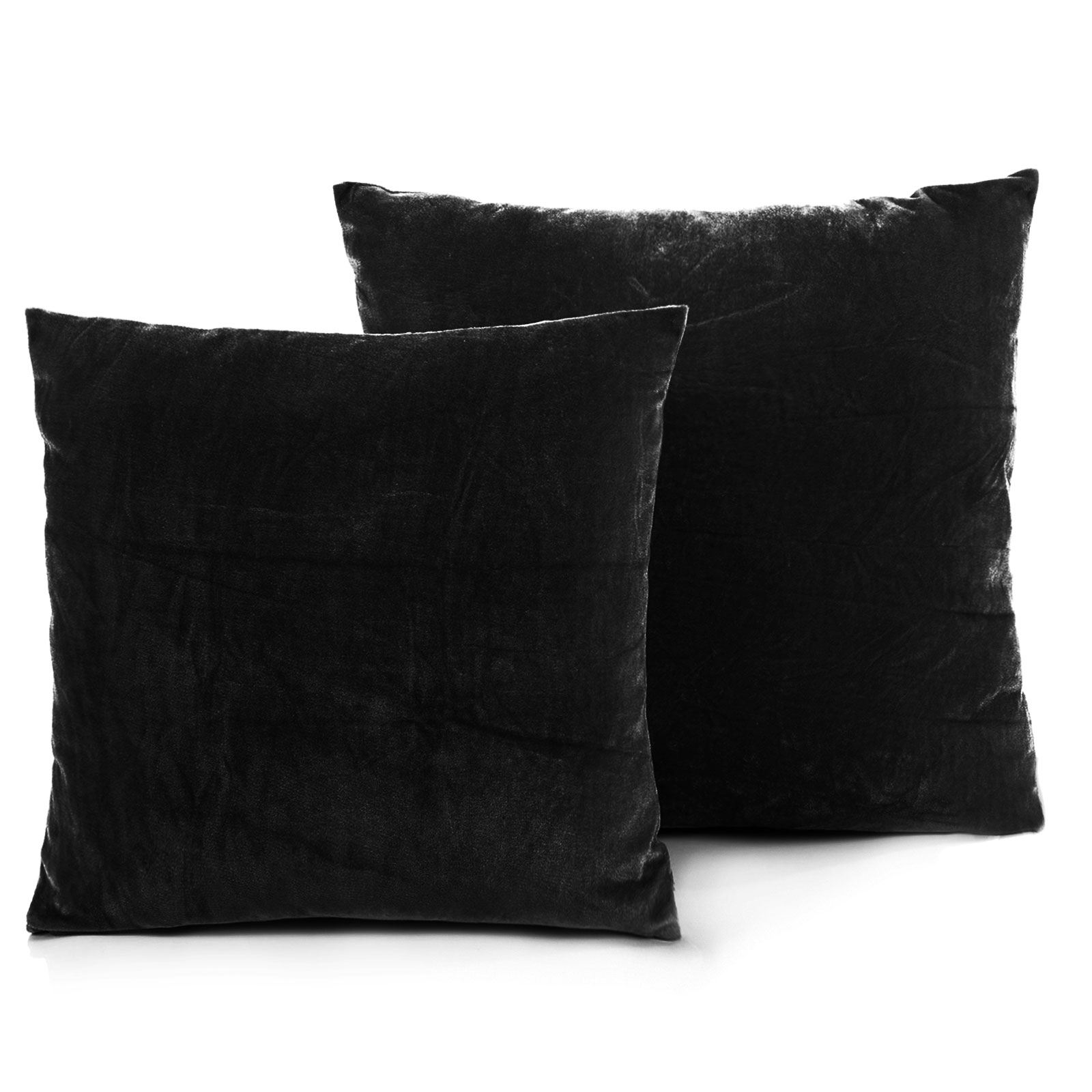 luxe fausse fourrure housse de coussin cas canap oreiller lit d coration velours look 45x45 ebay. Black Bedroom Furniture Sets. Home Design Ideas