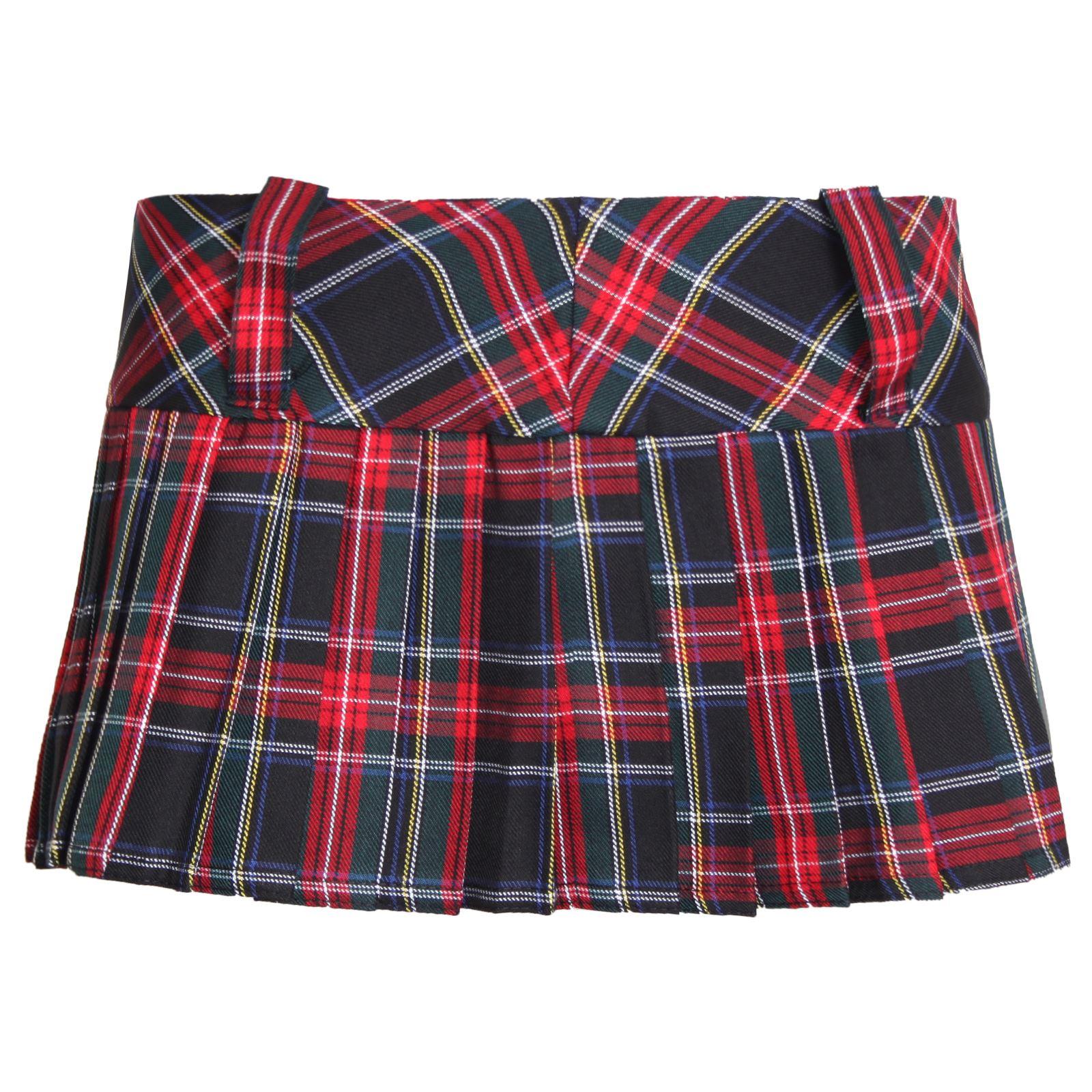 12 tartan skirt pleated mini micro skater