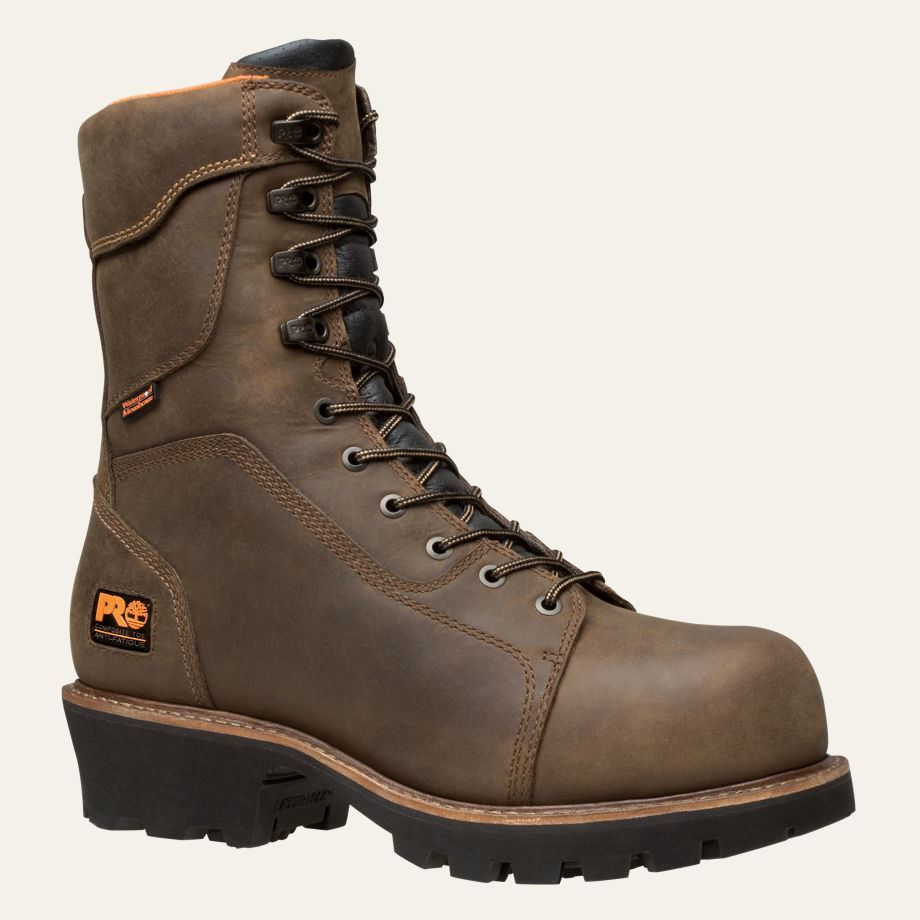 Timberland Pro Boots Mens 9 Quot Rip Saw Comp Toe Logger