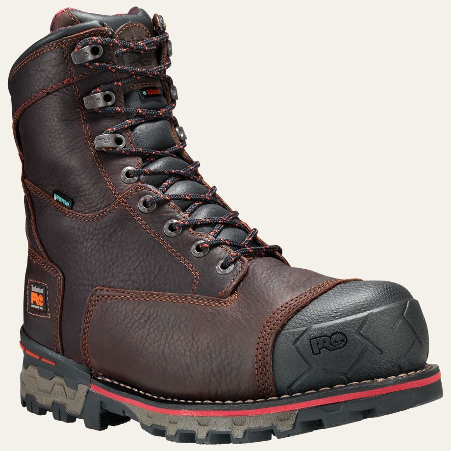 timberland pro boots mens boondock 8 quot composite safety toe
