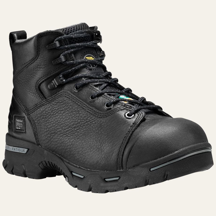 timberland pro boots mens endurance 6 quot steel toe black