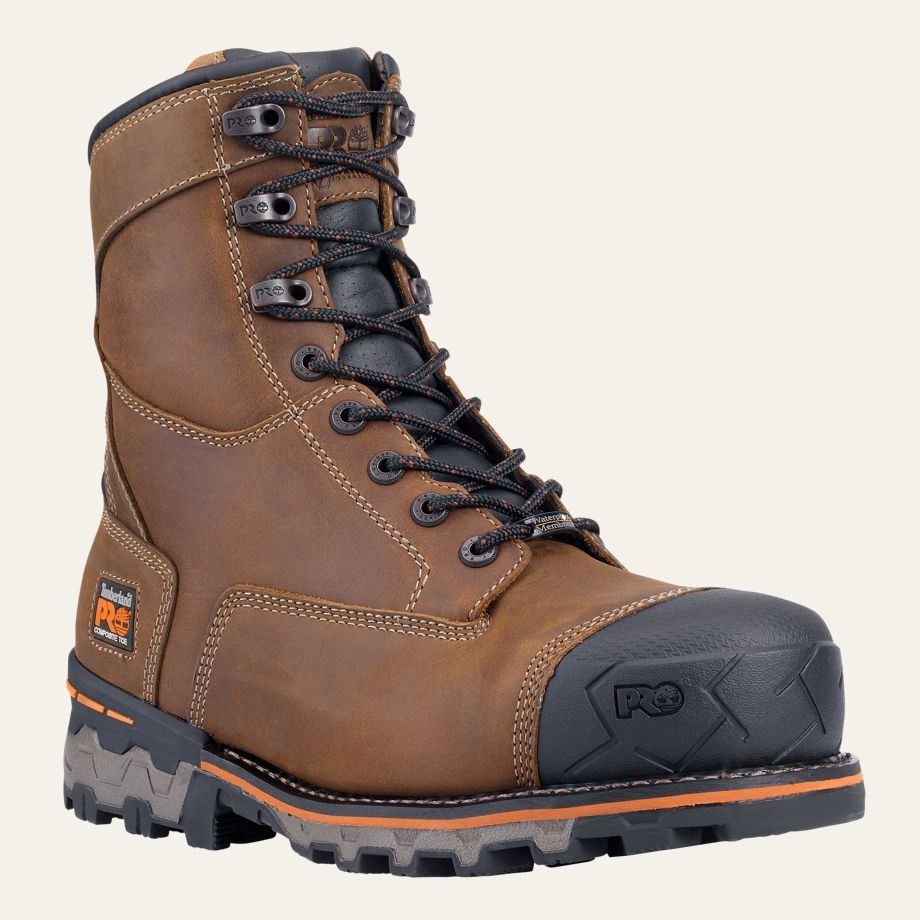 Timberland PRO Boots Mens Boondock 8u0026quot; Composite Safety Toe ...