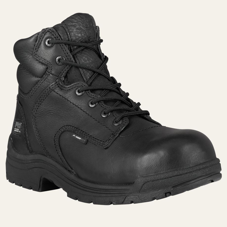Timberland PRO Boots Mens TiTAN Composrite Safety Toe Black Work Boot 50507 | EBay