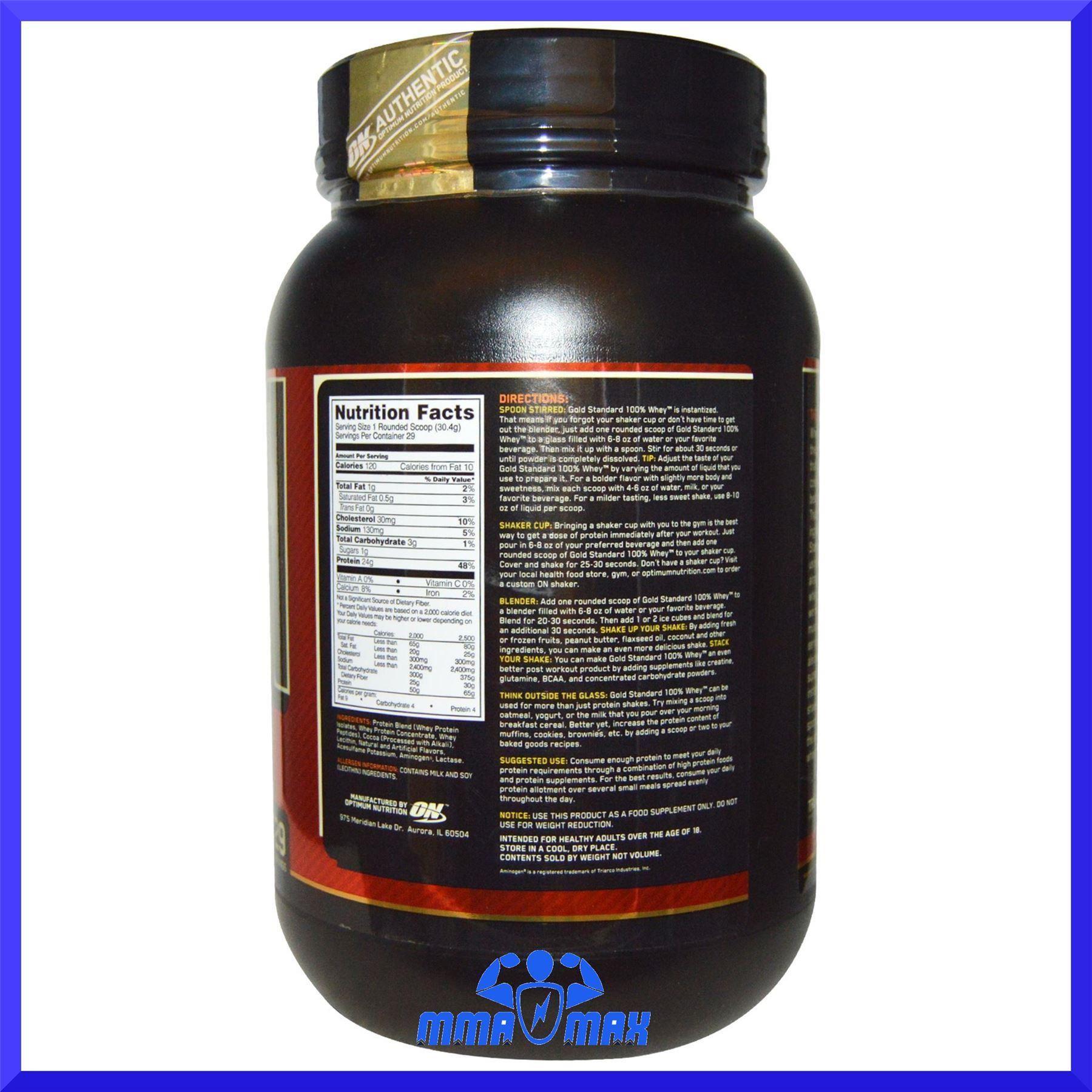 Whey protein powder optimum nutrition