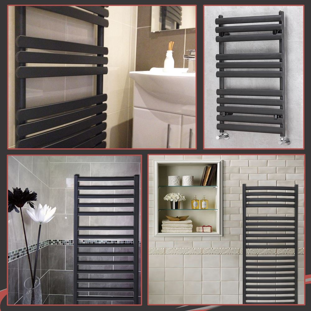 Sale white amp black designer heated towel rails bathroom radiators - Black Designer Heated Towel Rail Radiators Wall Mounted For Your Central Heating