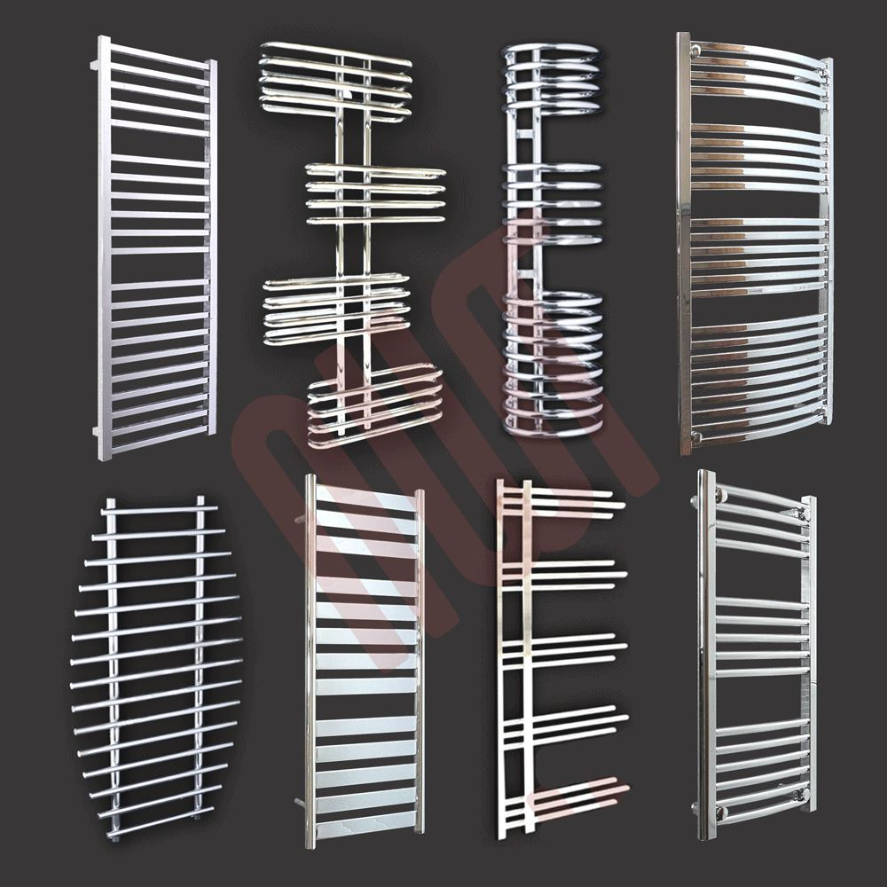 designer handtuchhalter heizk rper chrome und noir mm w x mm h ebay. Black Bedroom Furniture Sets. Home Design Ideas