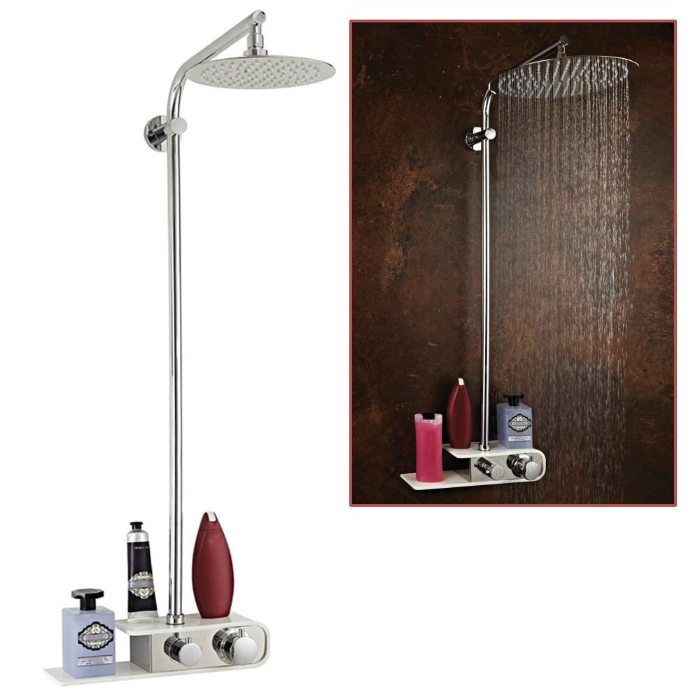 shower column shelf valve inc slide rail 200mm or. Black Bedroom Furniture Sets. Home Design Ideas