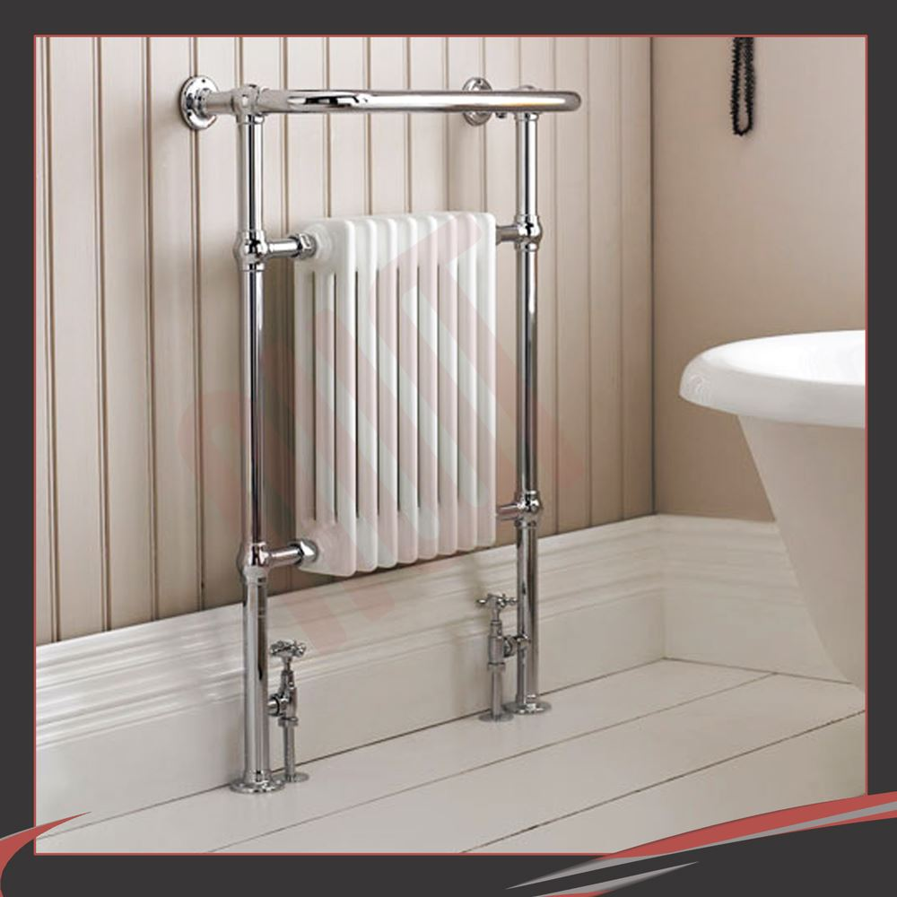 HIGH BTUs! Traditional Designer Chrome Heated Towel Rails ...