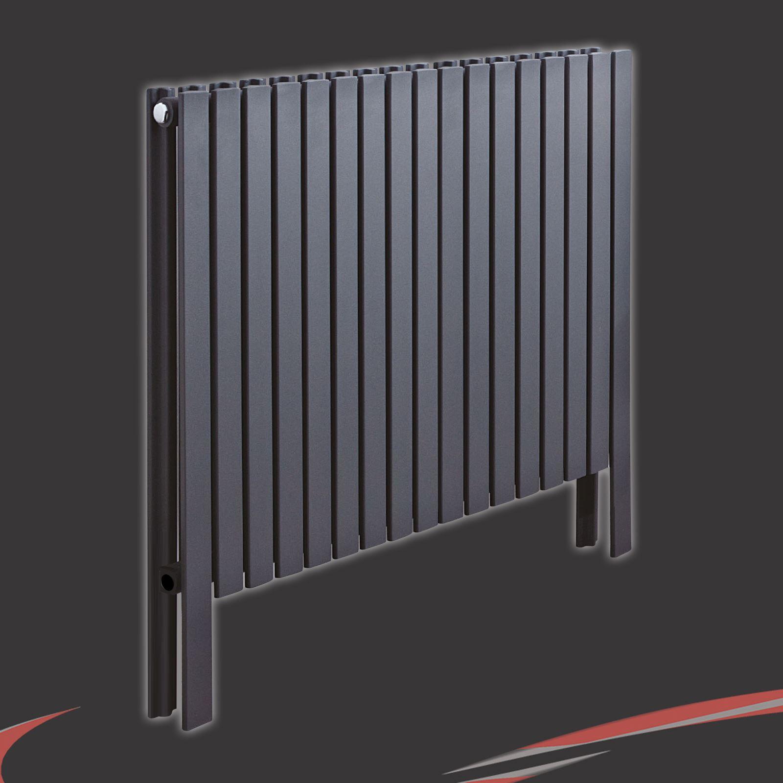 Bathroom Floor Radiators : Quot axim double anthracite floor standing designer radiators
