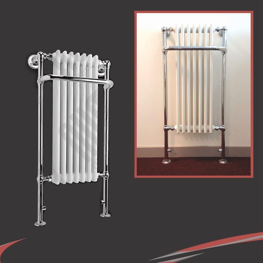 White Bathroom Radiators: Traditional Bathroom Towel Rails Radiators Chrome & White