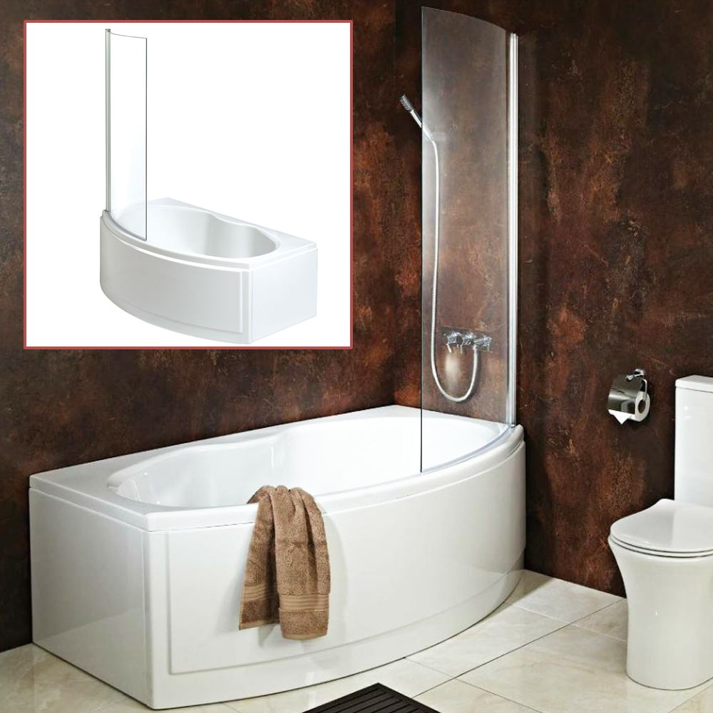 Quot California Quot Bow Fronted Bath Inc Hinged Curved Shower
