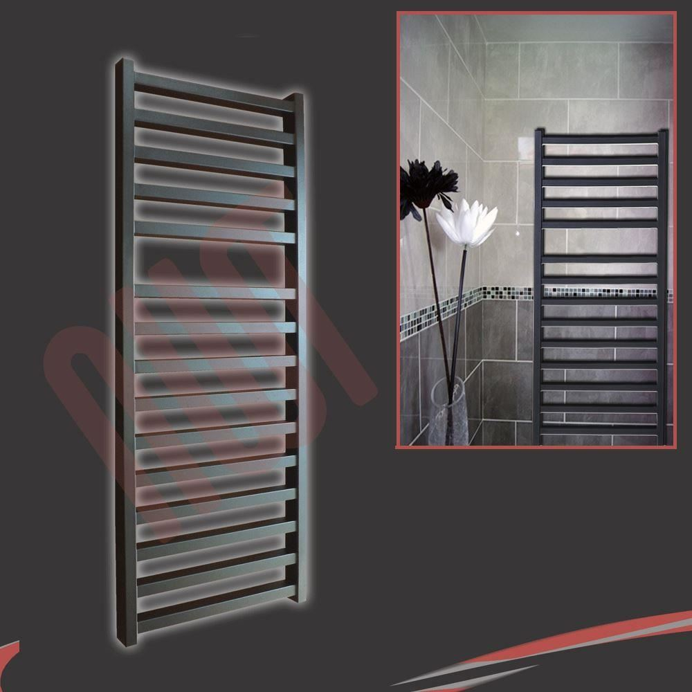 Black Designer Heated Towel Rail Radiators Amp Vlves Wall