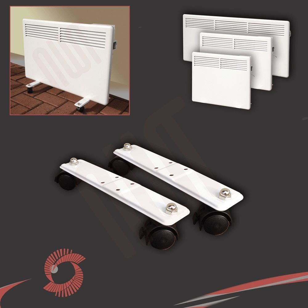 Nova live s electric white panel convector heater wall for Convector mural