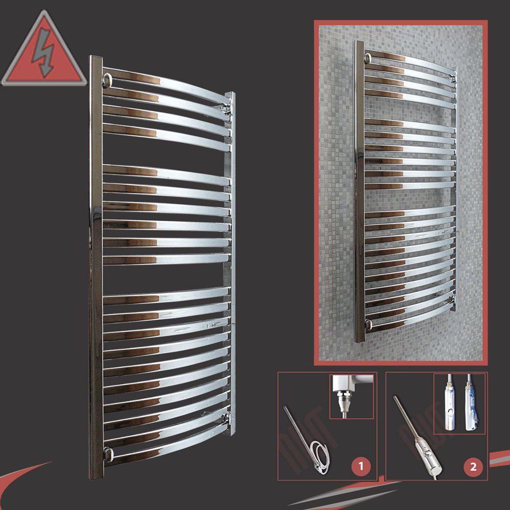 Heated Towel Rails Electric Chrome: Designer Chrome Electric Heated Towel Rails, Bathroom