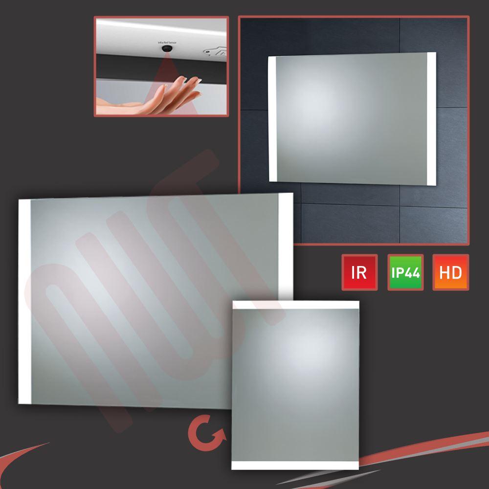 vantage led designer bathroom mirrors infrared sensor heat demist ip44 rated ebay. Black Bedroom Furniture Sets. Home Design Ideas