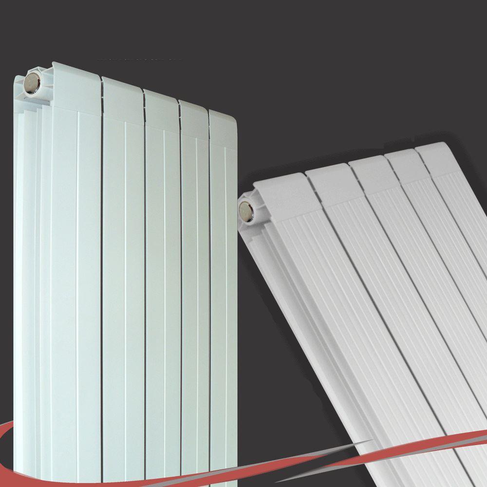 Vertical White Designer Radiators  Oval Tube & Flat