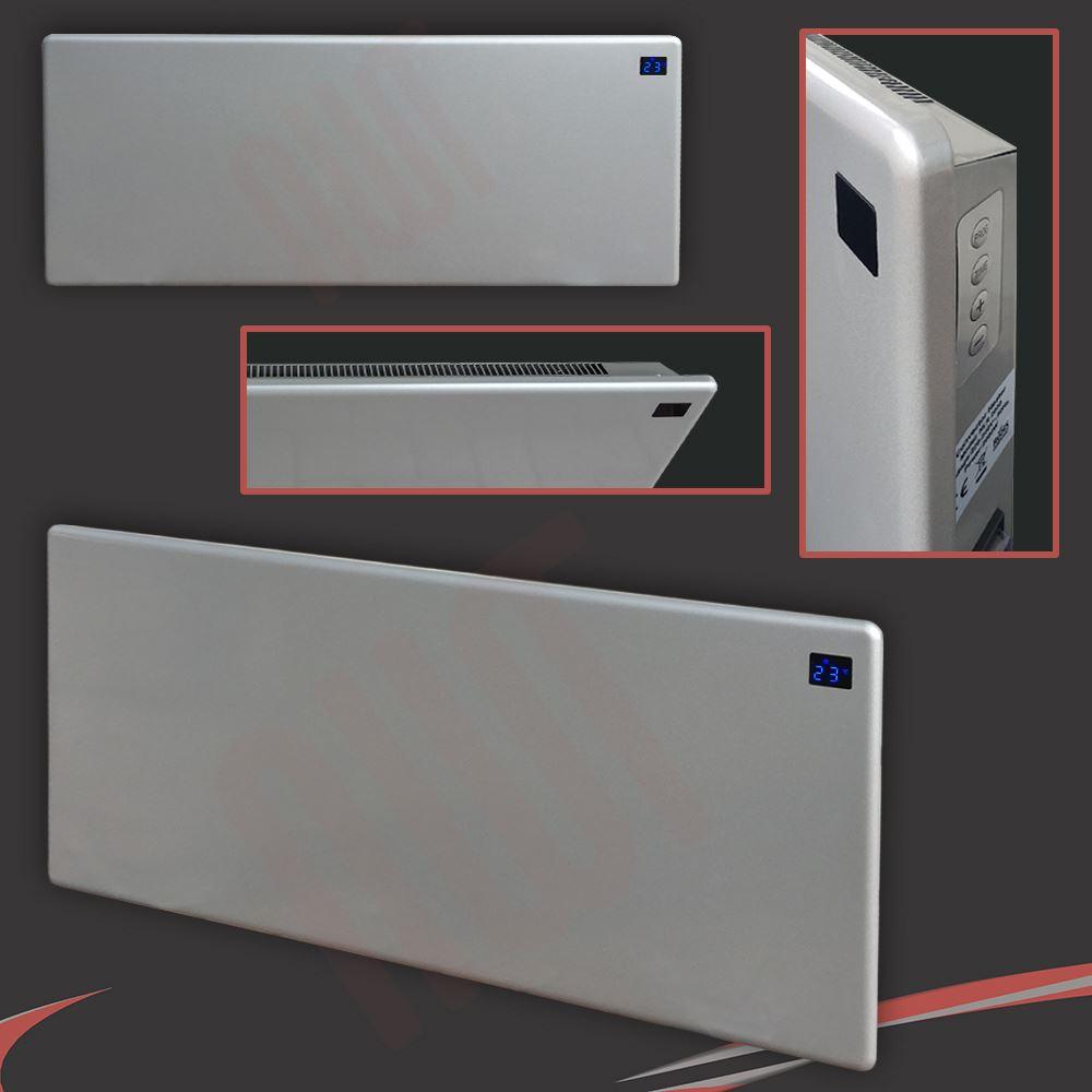 2000w Quot Nova Live R Quot Silver Slimline Electric Panel Heater