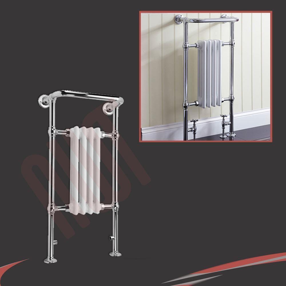 Bathroom Floor Radiators : High btus traditional designer chrome heated towel rails