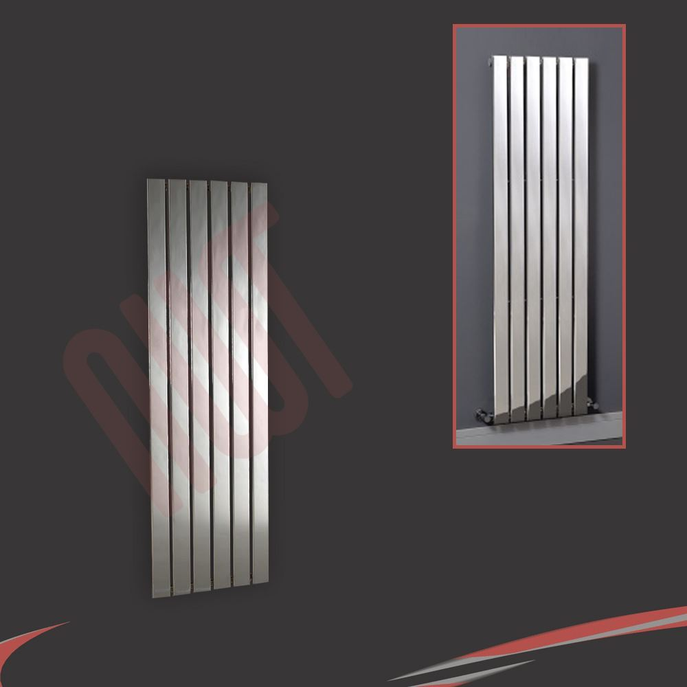 Vertical chrome designer radiators oval tube flat for Radiateurs plats pour chauffage central