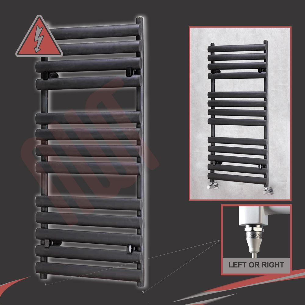Electric Towel Rails: PRE-FILLED Designer Chrome & Black Electric Heated Towel