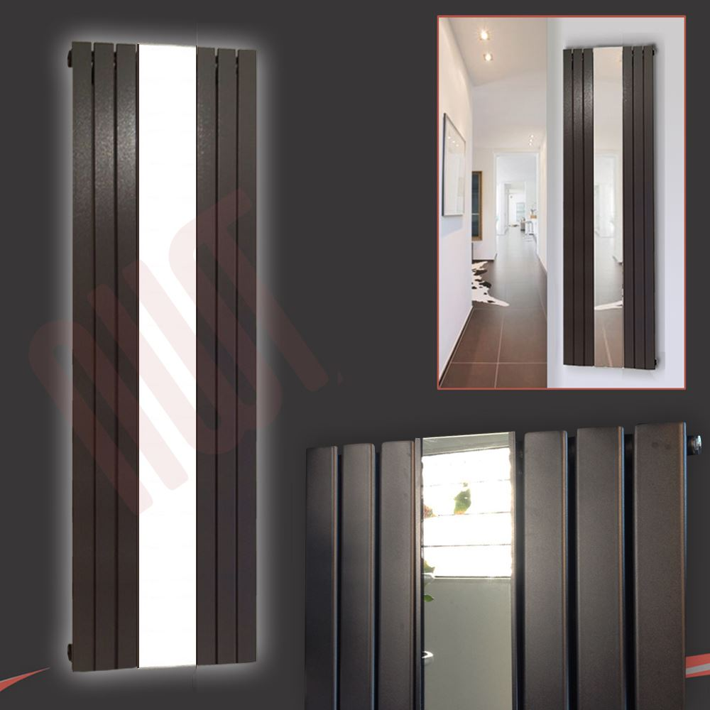 New white black anthracite corwen vertical flat panel for Mirror radiator