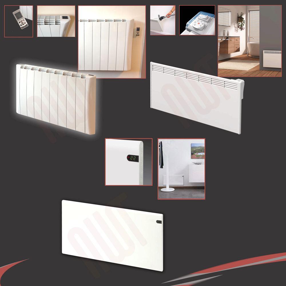 Adax mportement blanc mural panneau lectrique for Convector mural