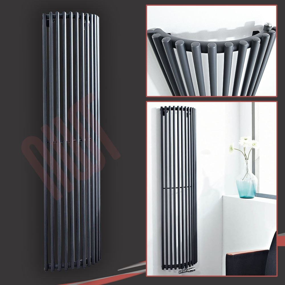 mixed vertical black anthracite central heating. Black Bedroom Furniture Sets. Home Design Ideas