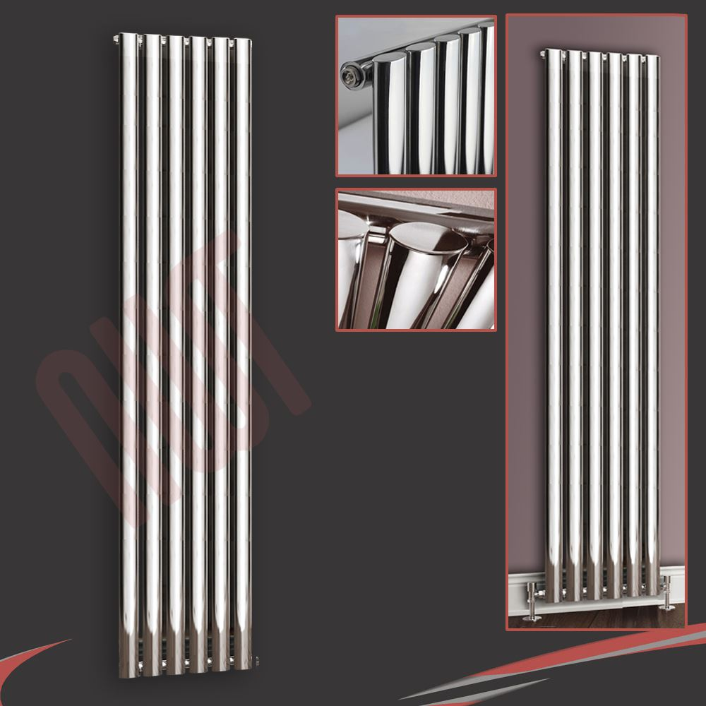 420mm w x 1800mm h brecon vertical chrome radiateur for Radiateur vertical w