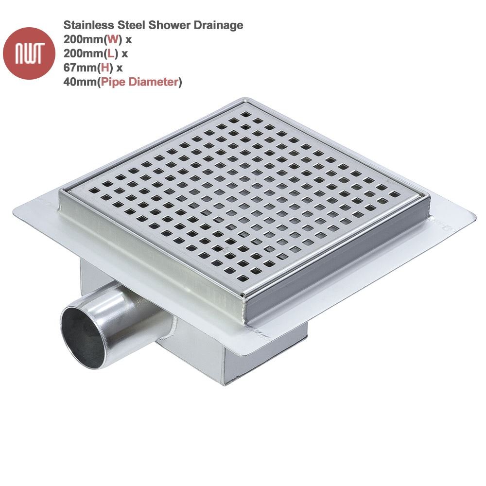 Easy Clean Stainless Steel Shower Wetroom Drainage System