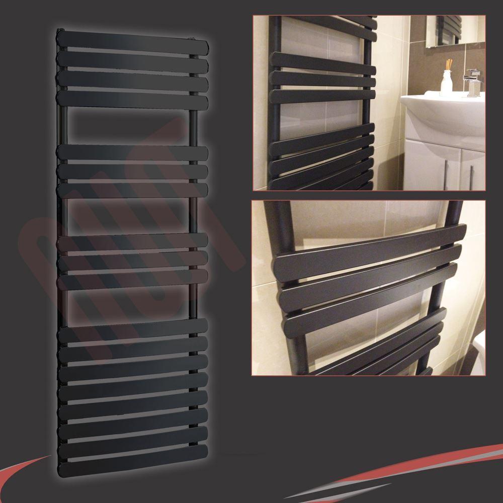 Black Designer Heated Towel Rail Radiators Vlves Wall Mounted Central Heating Ebay