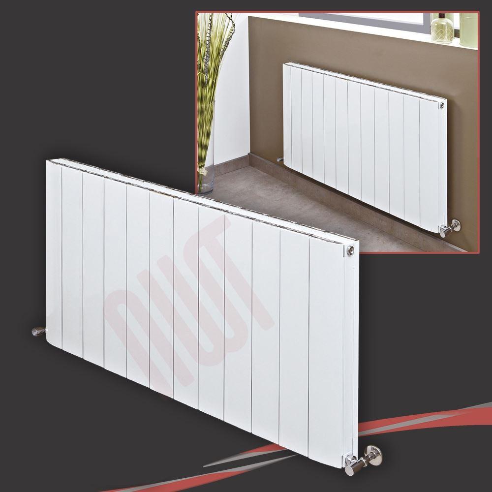 Horizontal white designer radiators oval tube flat - Paneles decorativos bano ...