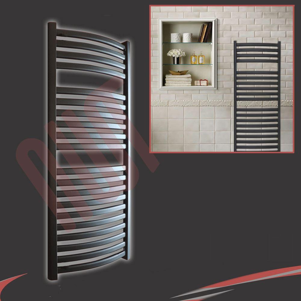 Ellipse designer heated chrome black towel rails Do heated towel rails heat the bathroom