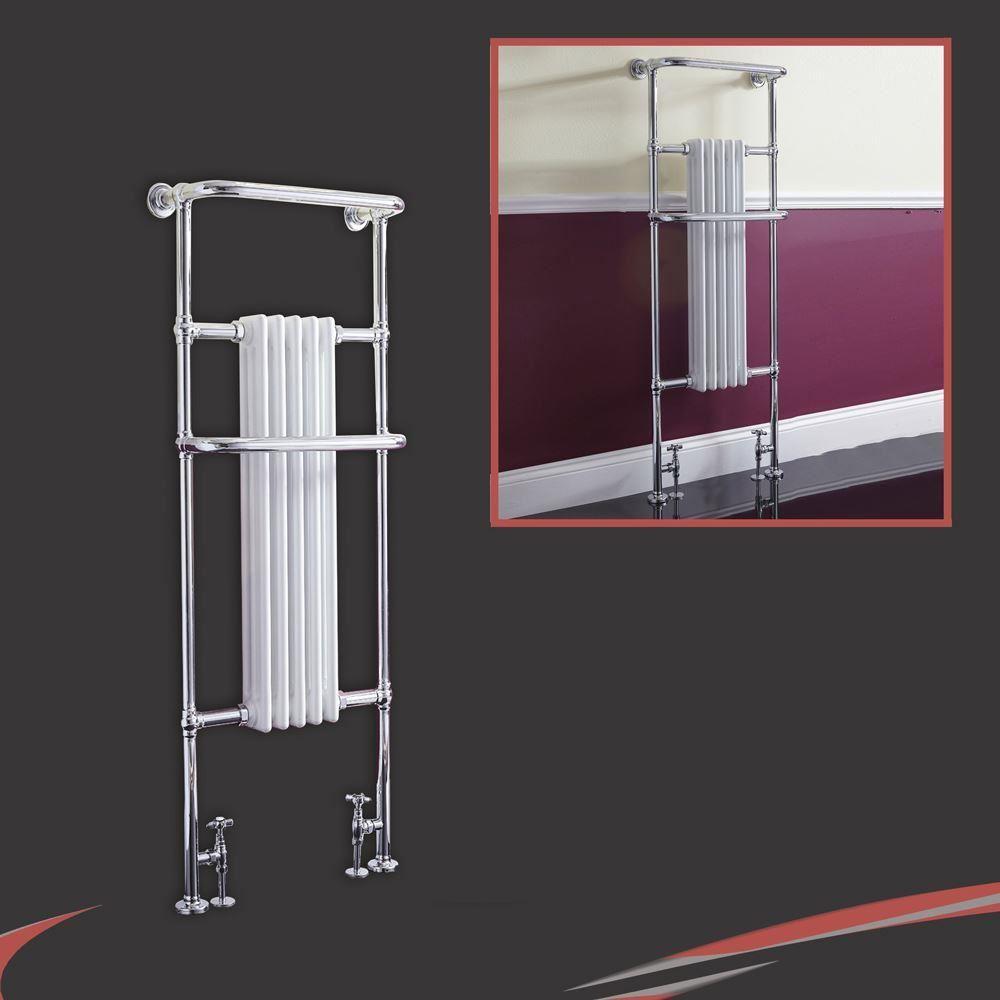 Bathroom Floor Radiators : Traditional bathroom towel rails radiators chrome white