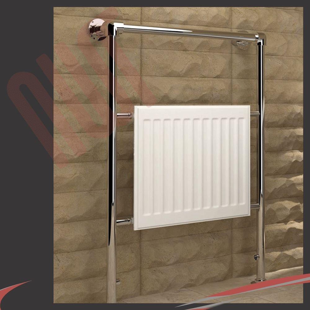 HIGH BTUs! Traditional Designer Chrome Heated Towel Rails