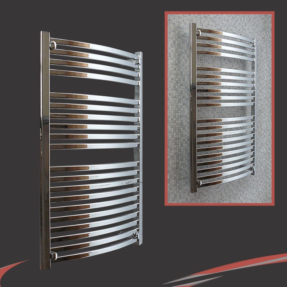 Chrome radiators bathroom