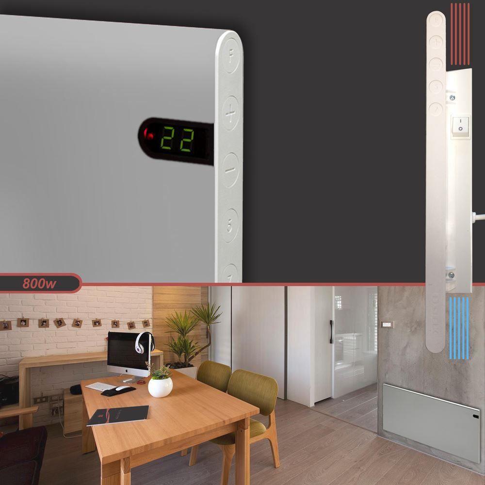 adax neo silver designer panneau lectrique chauffage radiateur convecteur mural ebay. Black Bedroom Furniture Sets. Home Design Ideas