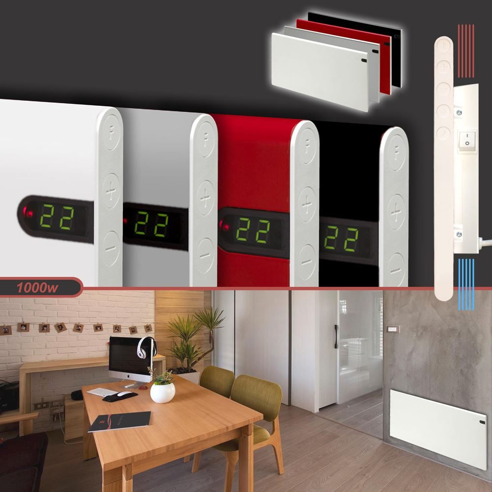 Slimline electric heaters wall mounted - Adax Neo 1000w Slimline Wall Mounted Electric Convector Panel Heater Radiator