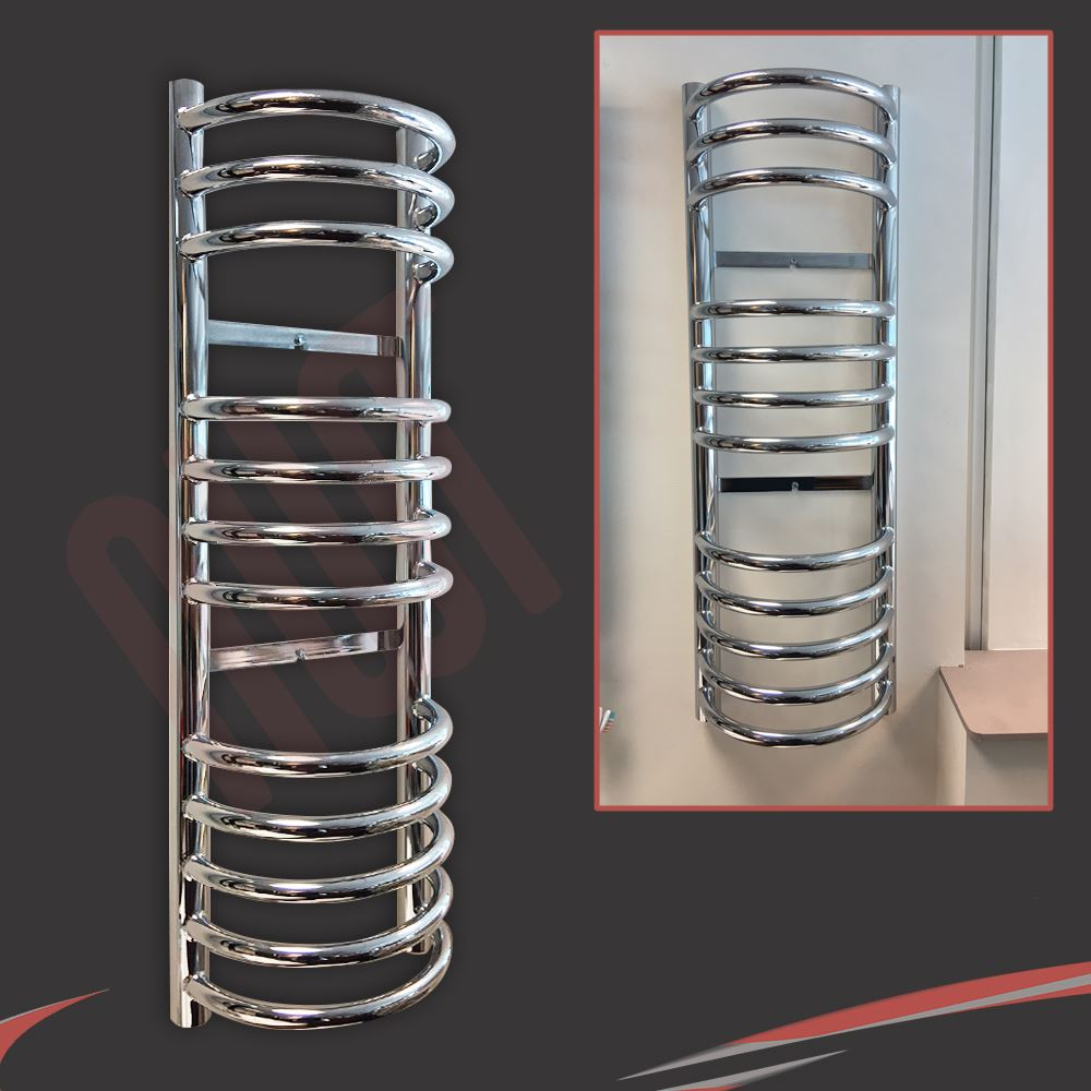 300mm Wide Black Designer Electric Heated Towel Rail: HUGE RANGE! Designer Heated Towel Rails Chrome Bathroom