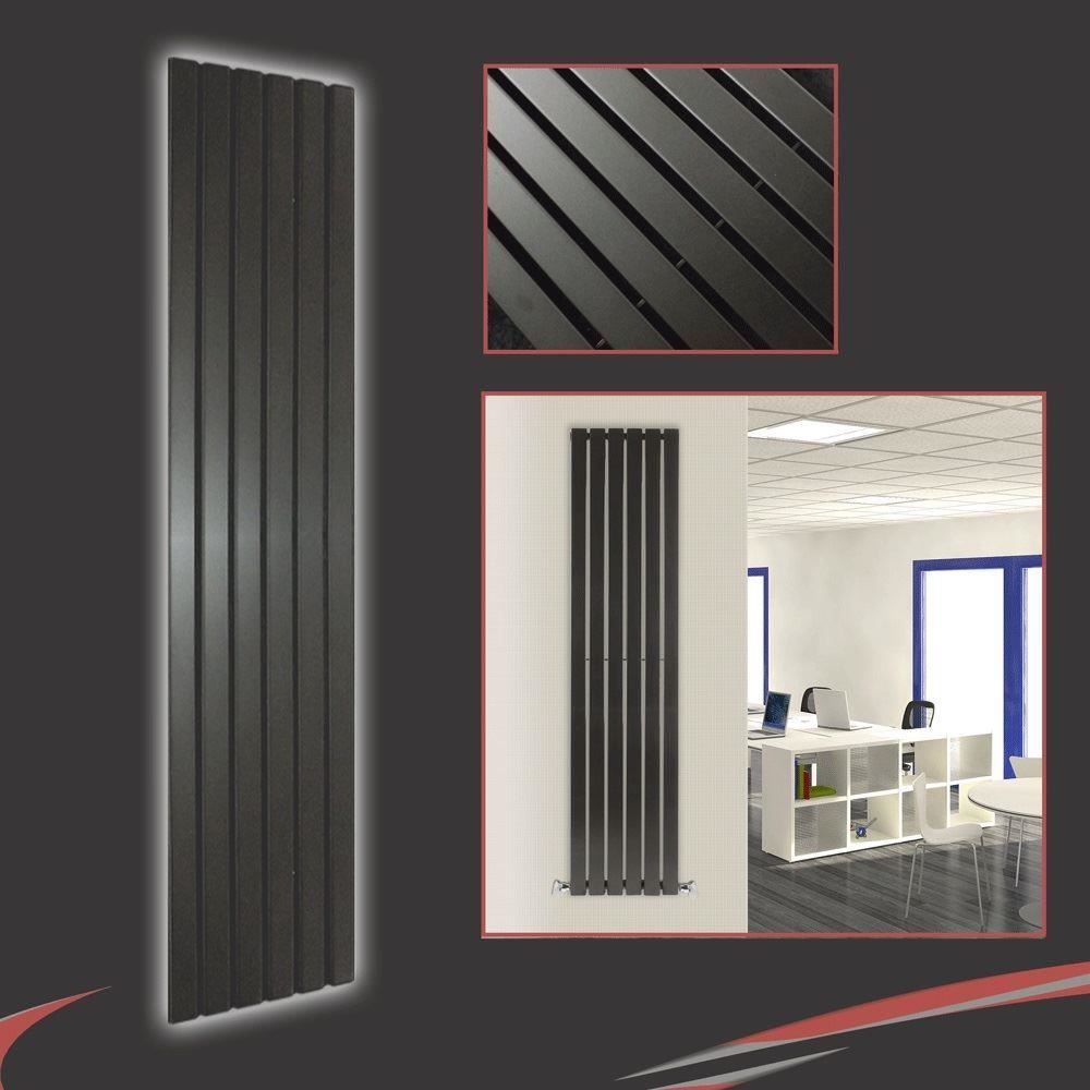 Mixed designer radiators vertical flat panels chrome for Mirror radiator