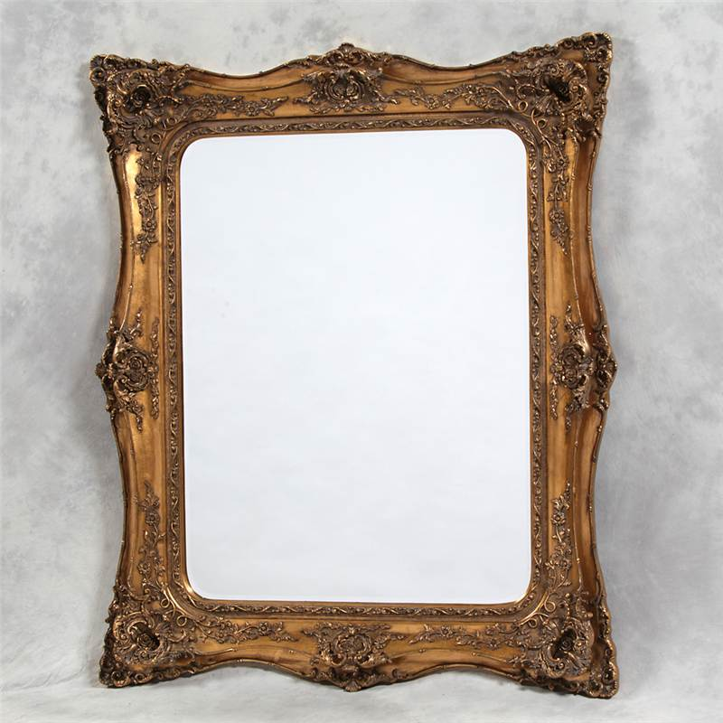 Baroque french shabby chic mirror antique gold ornate for Plastic baroque mirror