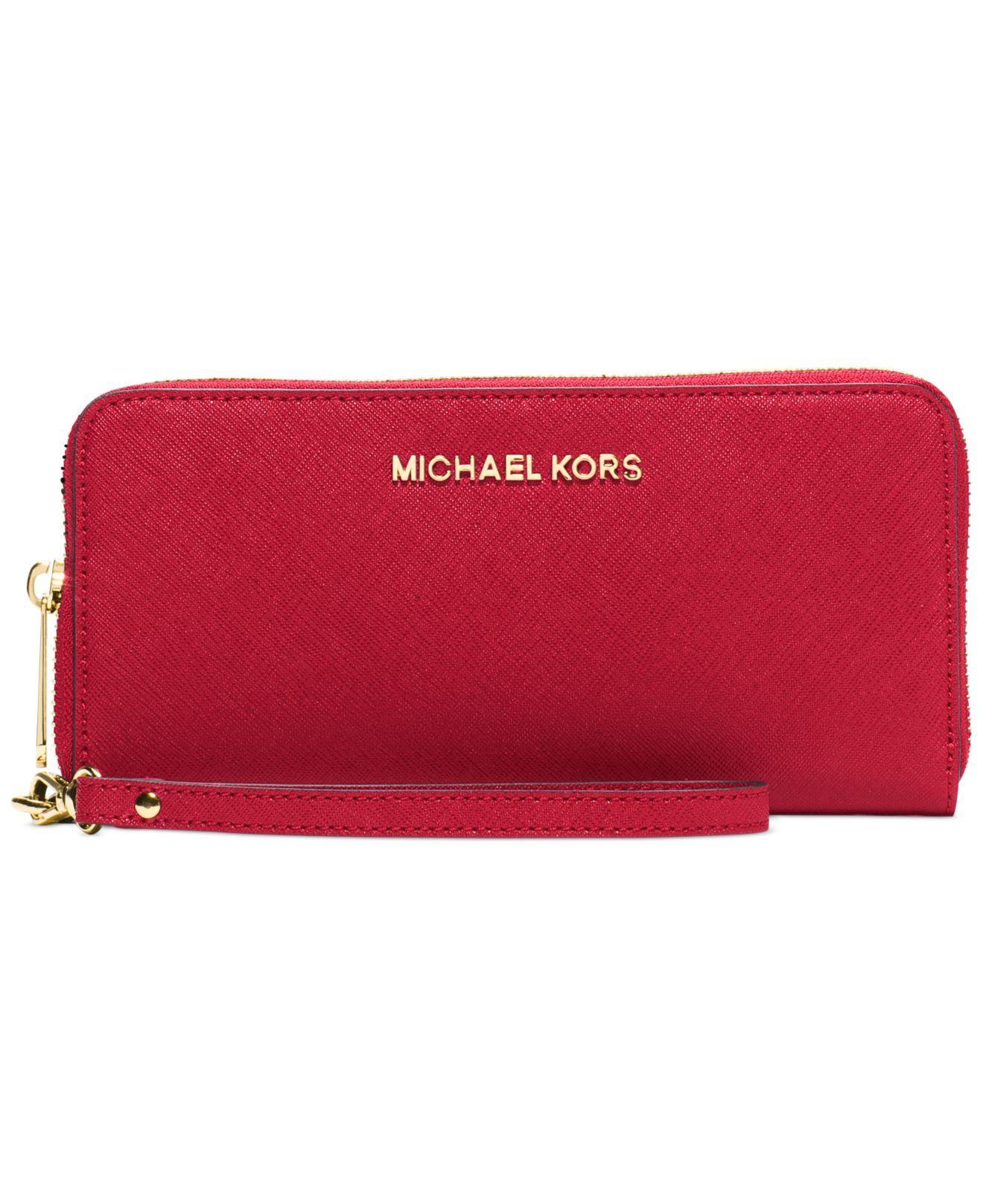 Michael Michael Kors Jet Set Travel Leather Continental Wallet: MICHAEL Michael Kors Jet Set Travel Continental Wallet