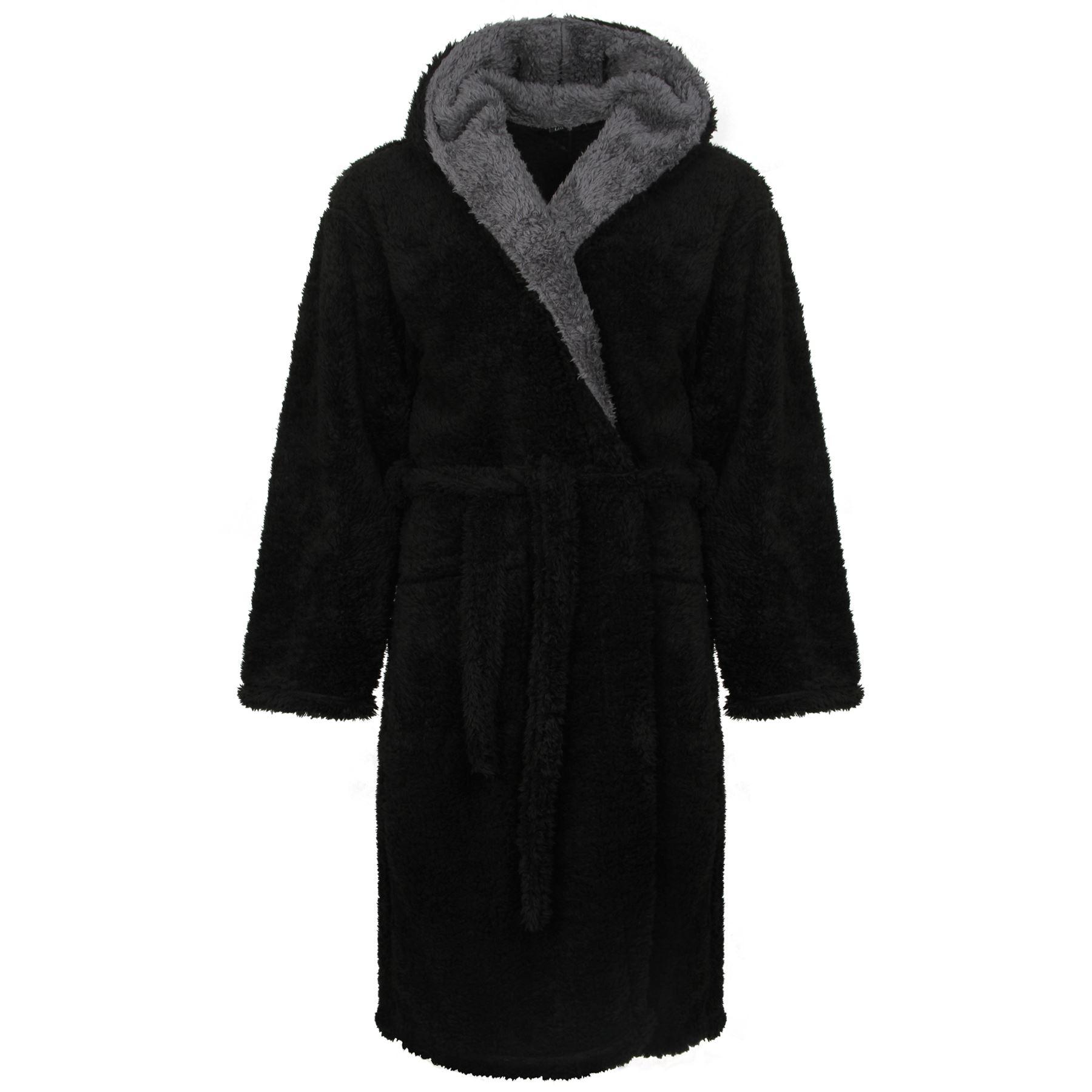 Men S Dressing Gowns Uk: Men's Snuggle Fleece Robe, Luxury Super Soft Hooded