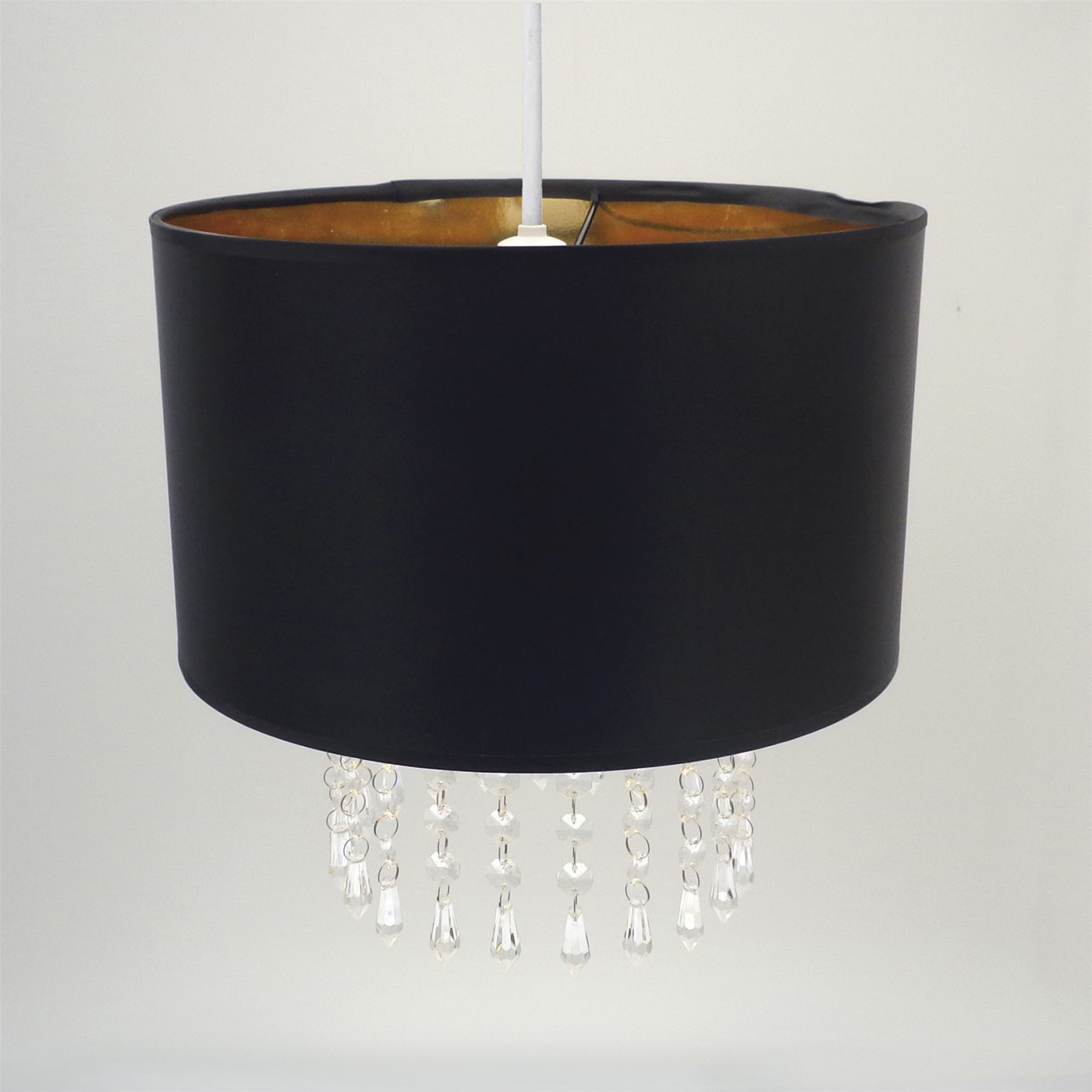 Easy fit chandelier ceiling pendant light shade black gold light easy fit chandelier ceiling pendant light shade black aloadofball Gallery
