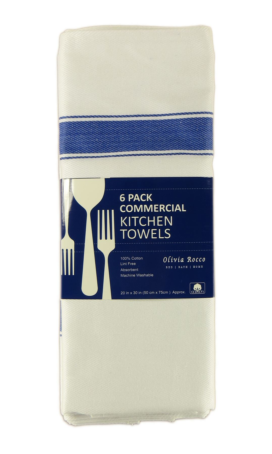 Pack Of 12 Kitchen Tea Towels Large 100