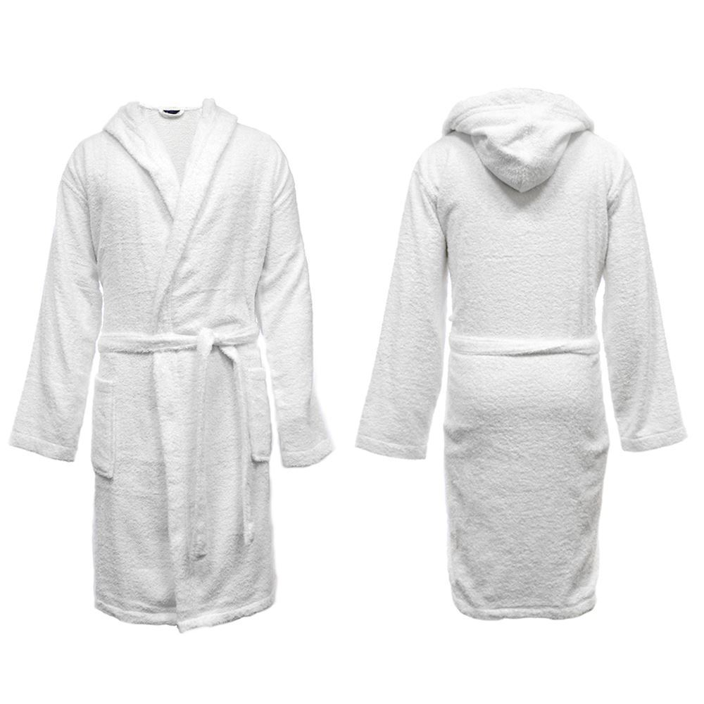 Men\'s Hooded Towelling Robe, 100% Cotton Dressing Gown, HT568 | eBay