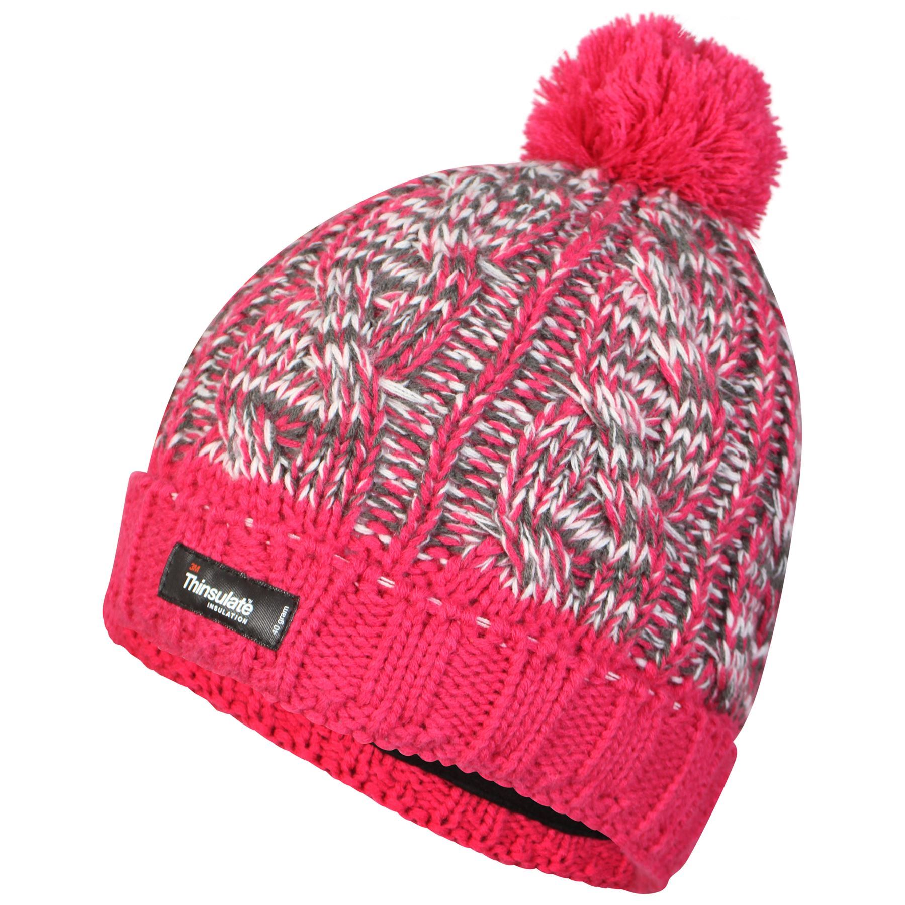s waterproof thinsulate beanie hat two tone bobble