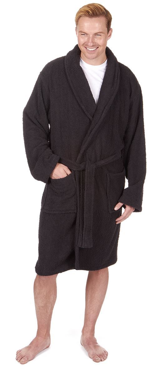 Men\'s Towelling Robe 100% Cotton Dressing Gown Robes, M L XL, Winter ...